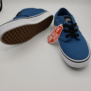 Vans Atwood Blue Ashes Black Skate Shoes Youth Boutique